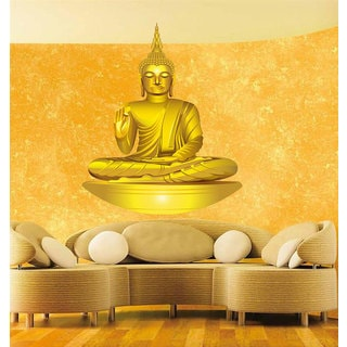 Full Color Buddha Full Color Decal, Yoga OM Full color sticker, wall art, Sticker Decal size 22x22