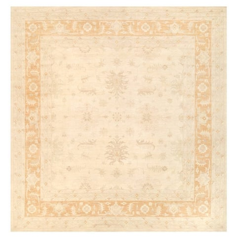 Herat Oriental Afghan Hand-knotted Vegetable Dye Oushak Wool Rug (13'11 x 14'4) - 13'11 x 14'4
