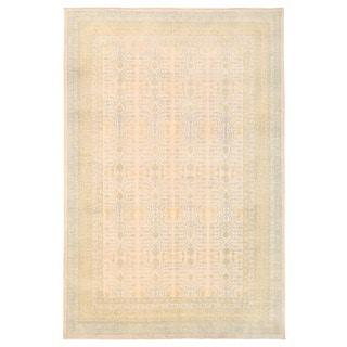 Herat Oriental Afghan Hand-knotted Vegetable Dye Khotan Wool Rug (8'7 x 12'8)