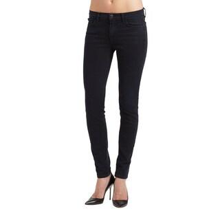 J Brand Women's 811 Mid Rise Skinny Black Jeans