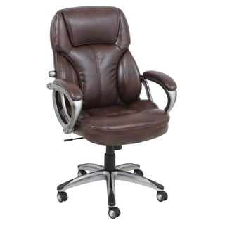 Barcalounger Brown Bonded Leather Executive Chair