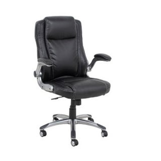 Barcalounger Black Bonded Leather/Nylon/Polypropylene Executive Chair