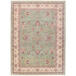 Herat Oriental Afghan Hand-knotted Vegetable Dye Oushak Wool Rug (10'1 x 13'9)