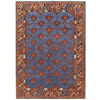 Handmade One-of-a-Kind Vegetable Dye Turkoman Wool Rug (Afghanistan) - 5'1 x 7'