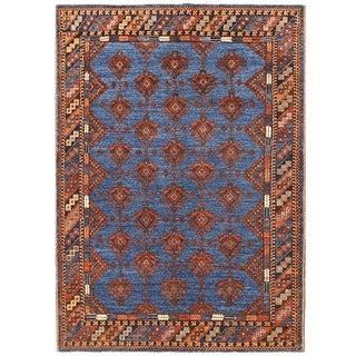 Herat Oriental Afghan Hand-knotted Vegetable Dye Turkoman Wool Rug (5'1 x 7')