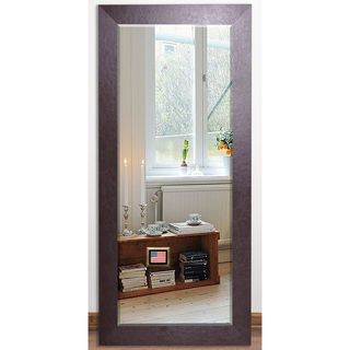 US Made Wide Brown Beveled Full Body Mirror