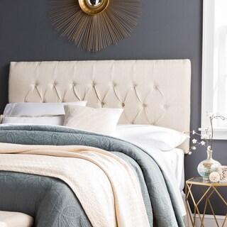 Humble + Haute Halifax King Size Ivory Raffia Upholstered Headboard