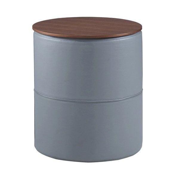 huge selection of 0350b 93205 DG Casa Etoree Grey Wood Small Pouf