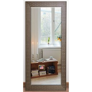 US Made Espresso Bricks Beveled Full Body Mirror
