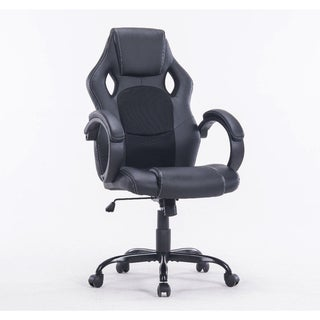 MCombo Leather High Back Desk Task Computer Office Chair Black
