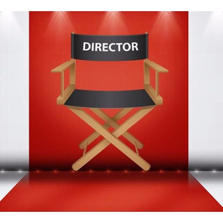 Full Color Director Chair Full Color Decal, Director Full color sticker, wall art Sticker Decal size 22x26