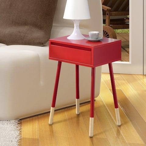 Furniture of America Raza Mid-Century Modern 1-drawer Side Table