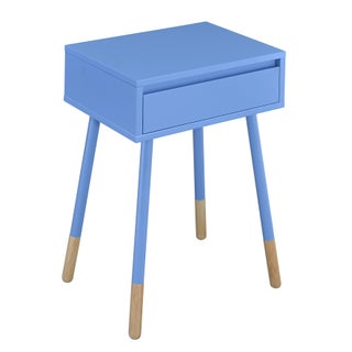 Furniture of America Faret Mid-Century Modern Two-Tone 1-drawer Side Table (Option: Blue)