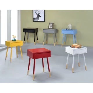 Furniture of America Faret Mid-Century Modern Two-Tone 1-drawer Side Table