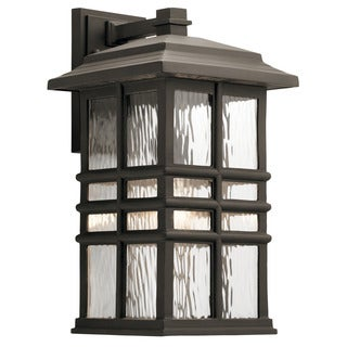 Kichler Lighting Beacon Square Collection 1-light Olde Bronze Outdoor Wall Lantern (As Is Item)