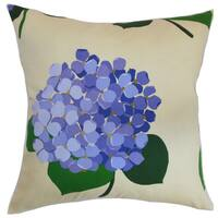 Batuna Floral 22-inch Down Feather Throw Pillow Lavender