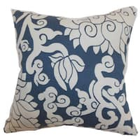 Erdenet Floral 22-inch Down Feather Throw Pillow Smoke