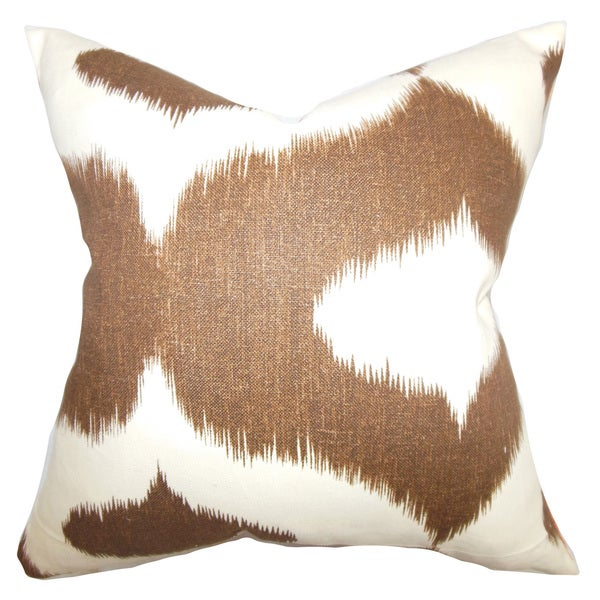 Shop Leilani Ikat 40inch Down Feather Throw Pillow Brown Free Classy Down Decor Pillows