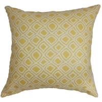 Cacia Geometric 22-inch Down Feather Throw Pillow Yellow