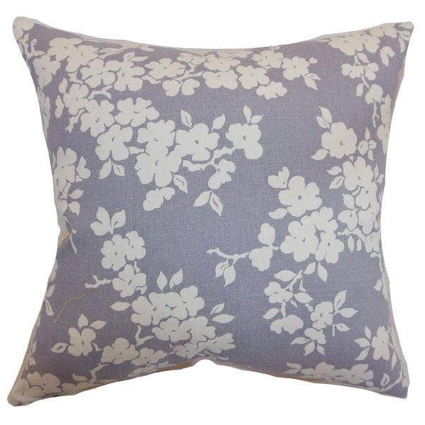 Vieste Floral 22-inch Down Feather Throw Pillow Lavender