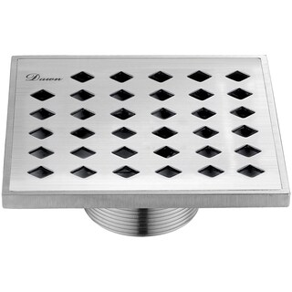 "Dawn® Mississippi River Series - Square Shower Drain 5""L"