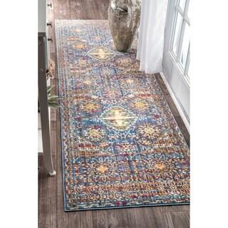 nuLOOM Traditional Intricate Persian Purple Runner Rug (2'6 x 8')