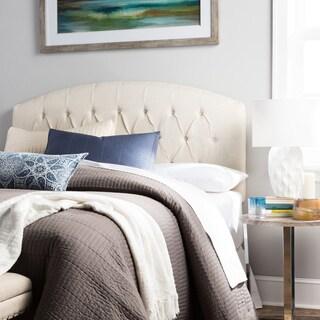Humble + Haute Halifax Full Size Ivory Raffia Curved Upholstered Headboard