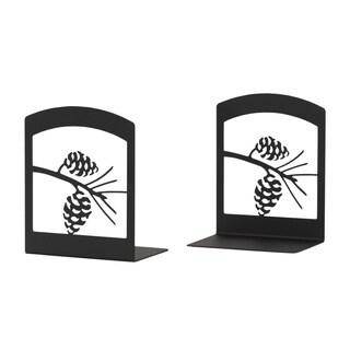 Pine Cone Silhouette Bookends