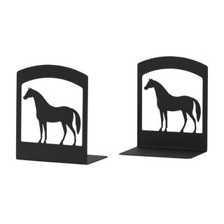 Black Wrought Iron Horse-themed Bookends