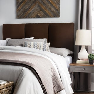 Humble + Haute Victoria Queen Size Chocolate Suede Upholstered Headboard