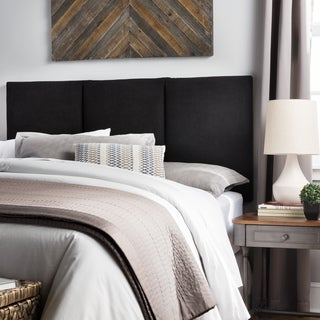Humble + Haute Victoria Queen Size Black Suede Upholstered Headboard