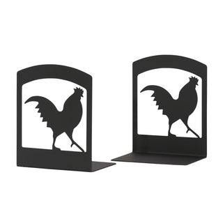 Rooster Silhouette Bookends
