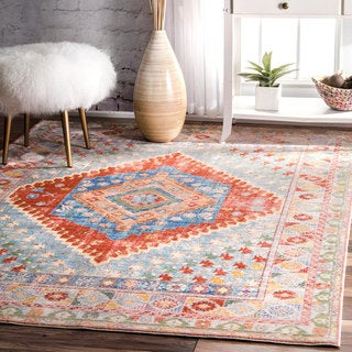 nuLOOM Traditional Vintage Inspired Diamond Broader Area Rug