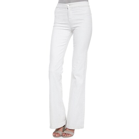 J Brand Women's White Tailored High Rise Flared Jeans
