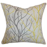 Fderik Trees 22-inch Down Feather Throw Pillow Canary