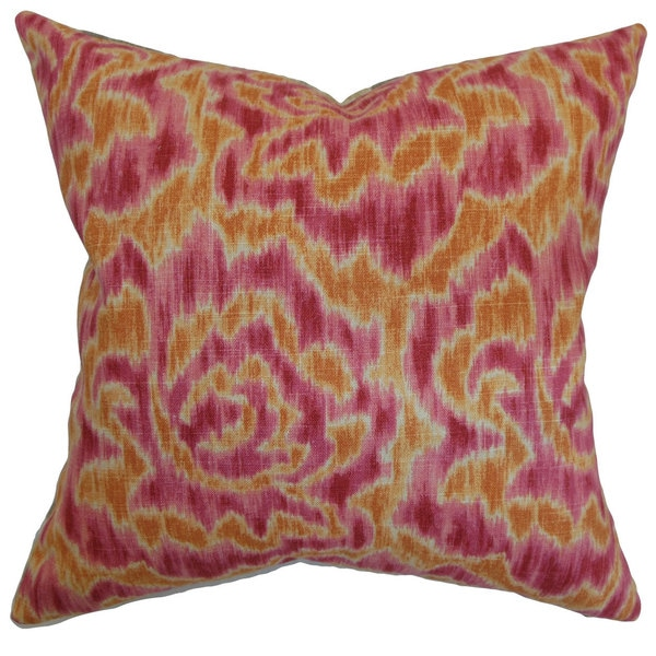 Laserena 22-inch Down Feather Throw Pillow Mango
