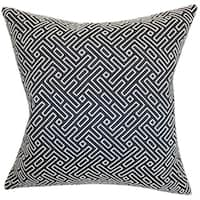 Ocussi Geometric 22-inch Down Feather Throw Pillow Navy