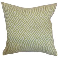 Qalanah Geometric 22-inch Down Feather Throw Pillow Leaf
