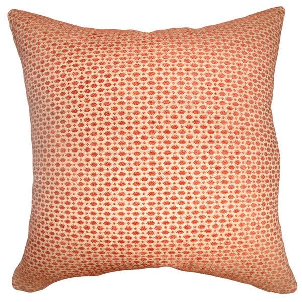 Verdon Geometric 22-inch Down Feather Throw Pillow Tangerine