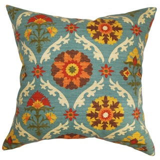 Kachine Floral 22-inch Down Feather Throw Pillow Autumn