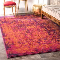 nuLOOM Vintage Inspired Oriental Orange Rug - 4' x 6'