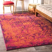 nuLOOM Vintage Inspired Oriental Orange Rug - 5' x 7'5