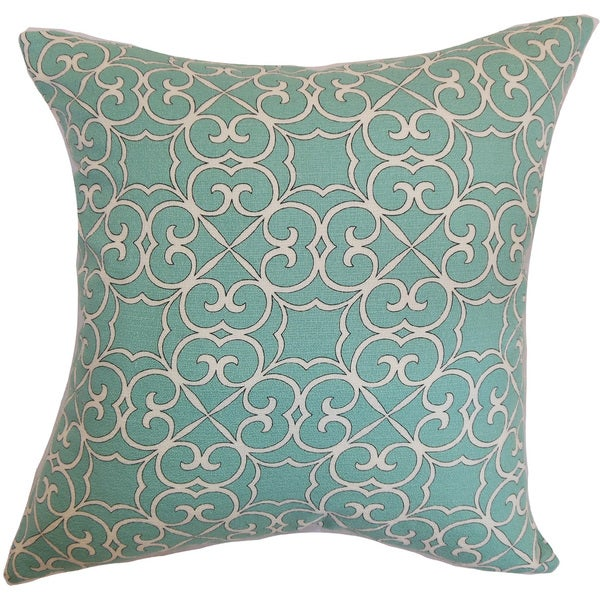 Ileouen Geometric 22-inch Down Feather Throw Pillow Aqua
