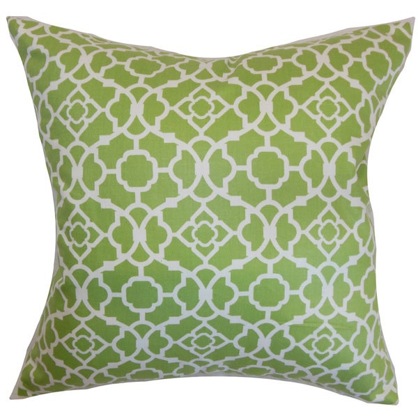 Kalmara Geometric 22-inch Down Feather Throw Pillow Green
