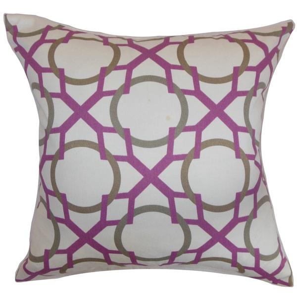 Lacbiche Geometric 22-inch Down Feather Throw Pillow Wisteria