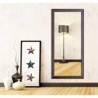 US Made American Walnut Beveled Full Body Mirror
