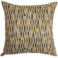 Candie Geometric 22-inch Down Feather Throw Pillow Gold
