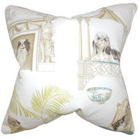 Zuzela Animal Print 22-inch Down Feather Throw Pillow Ivory