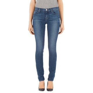 J Brand Women's Rail Blue Denim Mid Rise Straight Leg Jeans