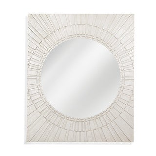Brasilia Silver Resin Wall Mirror